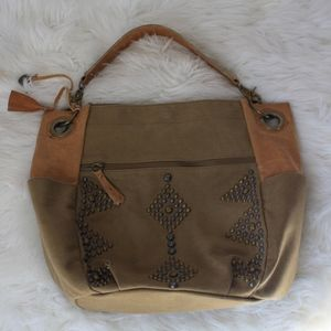 Lucky brand shoulder hobo slouchy bag  brown